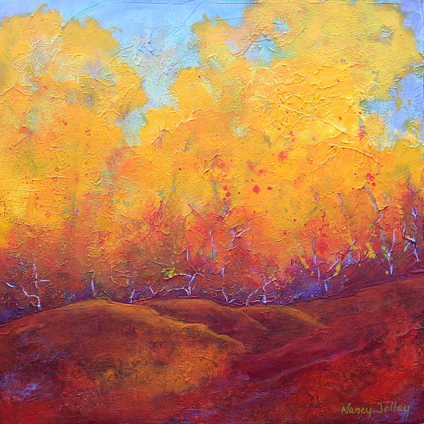 Autumn's Blaze Print by Nancy Jolley