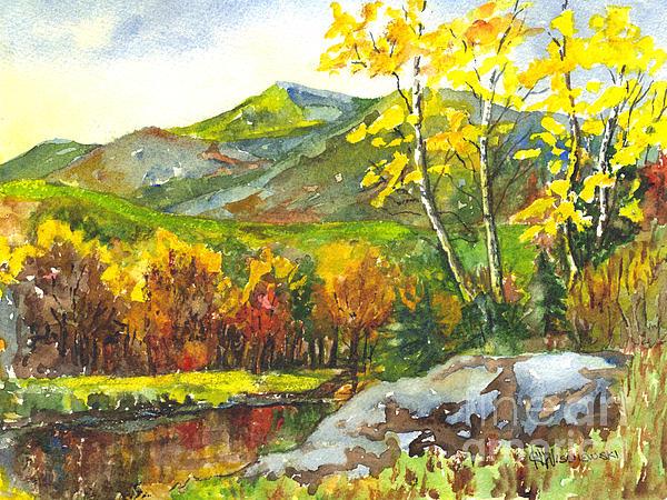 Autumn's Showpiece Print by Carol Wisniewski
