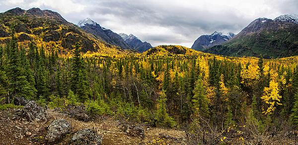 Autumn's Vista Print by Ed Boudreau