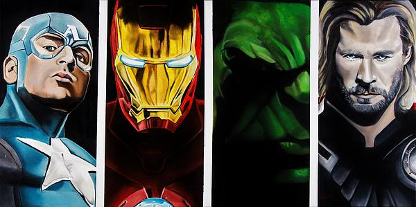 Avengers Print by Brian Broadway