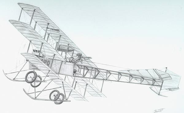 Avro Triplane Print by Rick Bennett