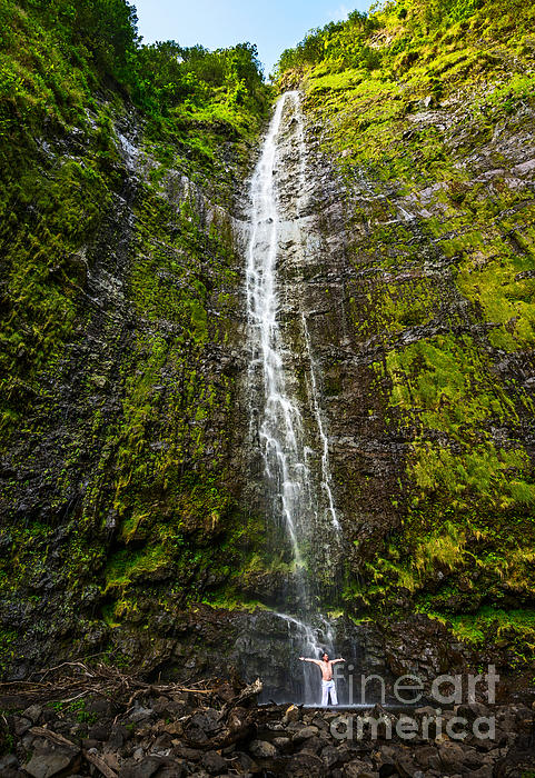 Jamie Pham - Awe - the spectacular and large Waimoku Falls in Maui.
