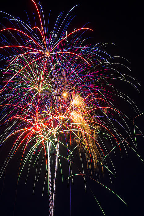 Awesome Fireworks Print by Garry Gay