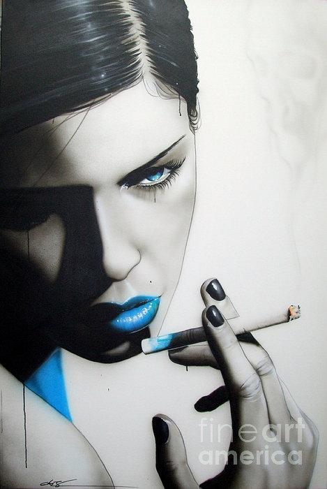 'azure Addiction' Print by Christian Chapman Art