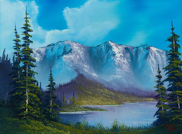 Azure Ridge Print by C Steele