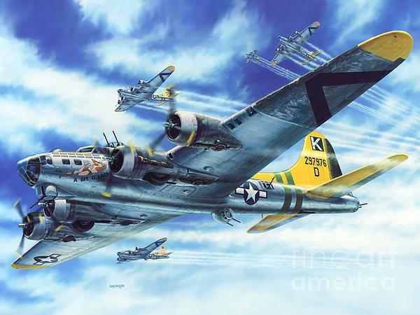 B-17g Flying Fortress A Bit O Lace Print by Stu Shepherd