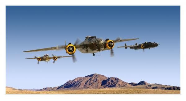 B-25 Mitchell Bomber Print by Larry McManus