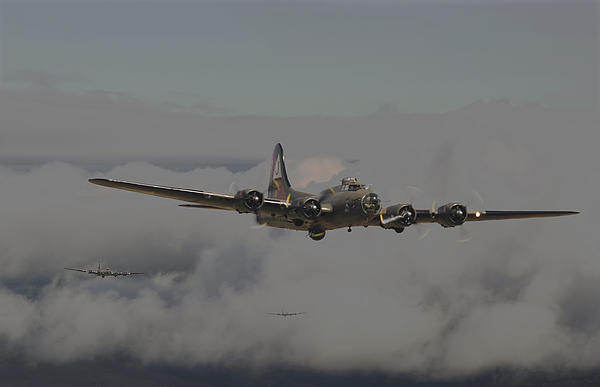 B17 Outbound - 'heavy Weather' Print by Pat Speirs