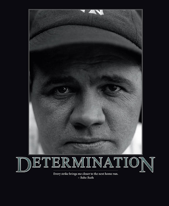 Babe Ruth Determination Print by Retro Images Archive