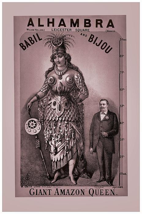 Babil And Bijou - Giant Amazon Queen Print by Maciej Froncisz