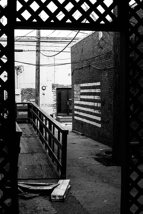 Back Alley America Print by Nathan Hillis