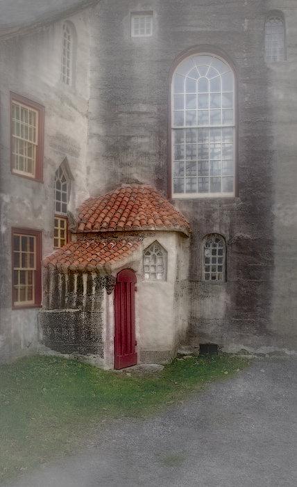 Back Door To The Castle Print by Susan Candelario
