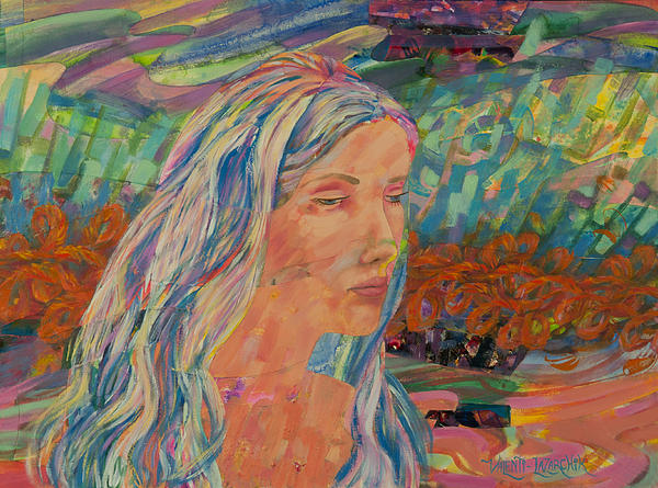 Back Draft - Heidi Print by Gina Valenti-Lazarchik