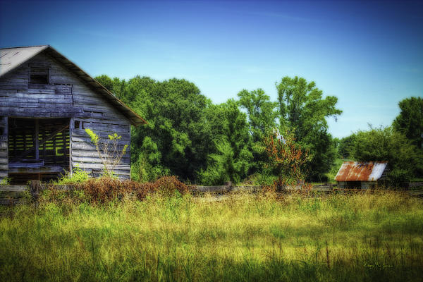 Back Road Barns Print by Barry Jones