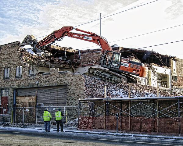 Backhoe Demolition Print by Daniel Hagerman