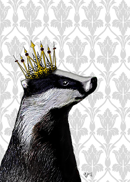 Badger King Print by Kelly McLaughlan