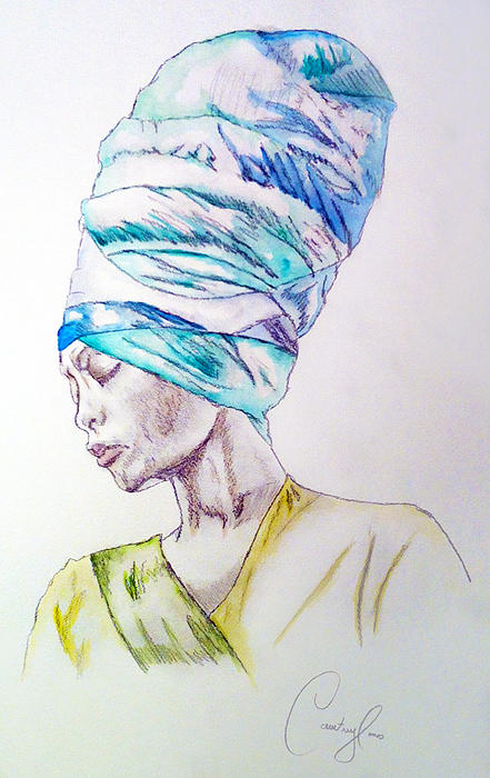 Badu Print by Courtney James