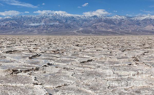 Badwater Basin - Death Valley Print by Sandra Bronstein