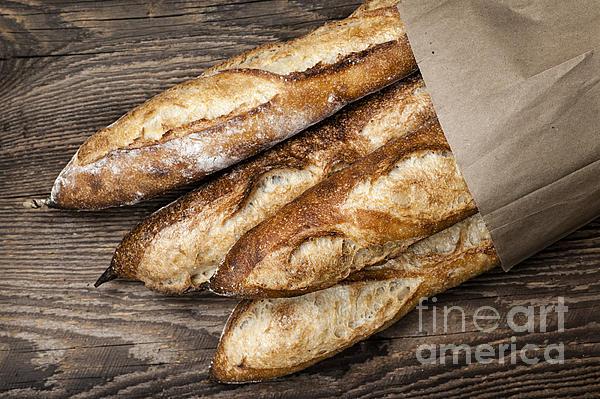 Baguettes Bread Print by Elena Elisseeva