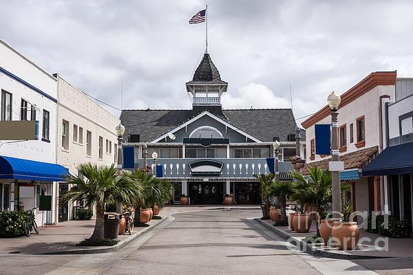 Balboa Downtown Main Street In Newport Beach Print by Paul Velgos