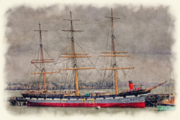 Balclutha Star Of Alaska San Francisco Print by Robert Jensen