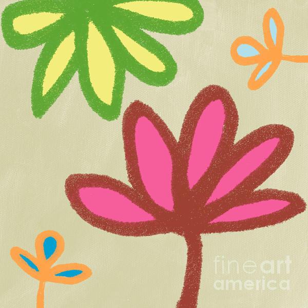Bali Garden Print by Linda Woods