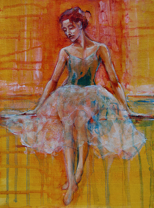 Ballerina In Repose Print by Jani Freimann