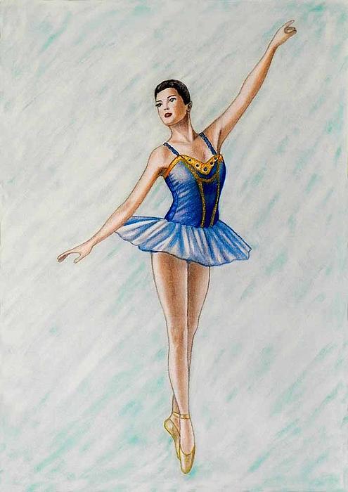 Ballerina Portrait Painting  Print by Luigi Carlo