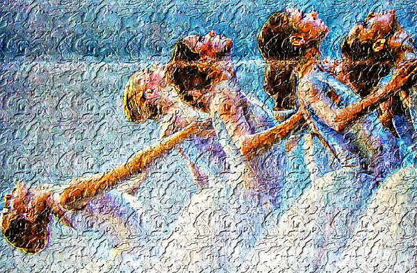 Ballerinas Print by M and L Creations