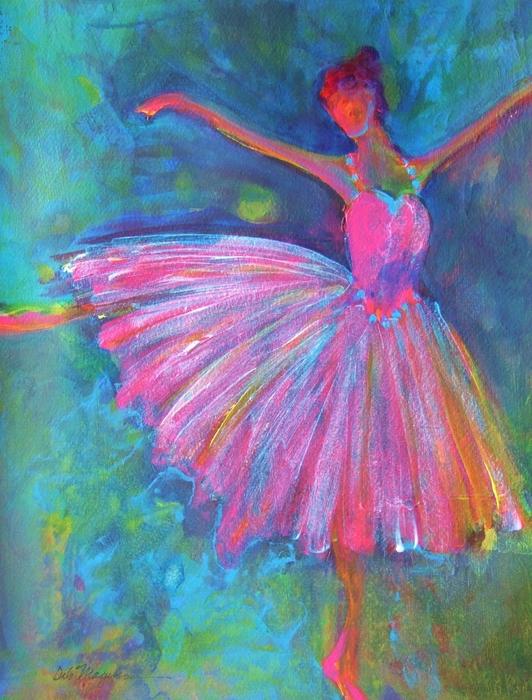 Ballet Bliss Print by Deb Magelssen
