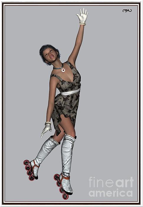 Ballet On Skates 8bos1 Print by Pemaro