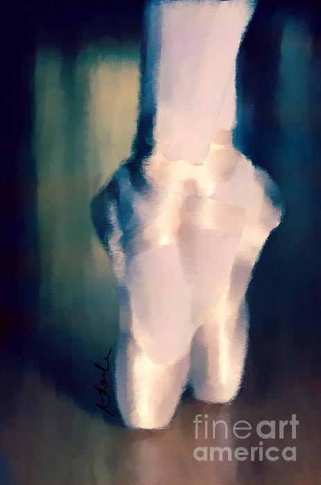 Ballet Slippers 1 Print by Karen Larter