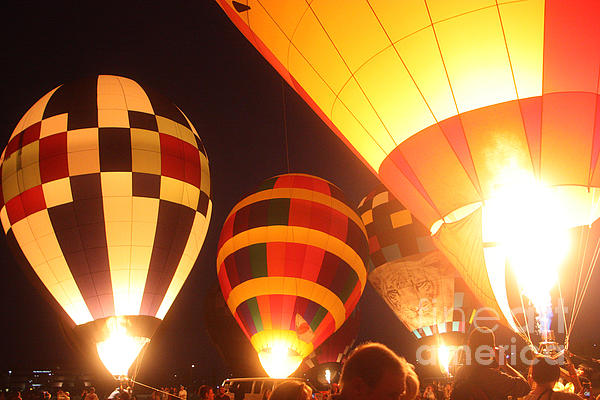 Balloon-glow-7950 Print by Gary Gingrich Galleries