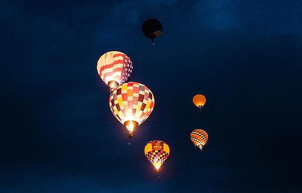 Balloon Glow Print by Linda Pulvermacher
