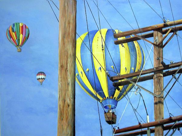 Balloon Race Print by Donna Tucker