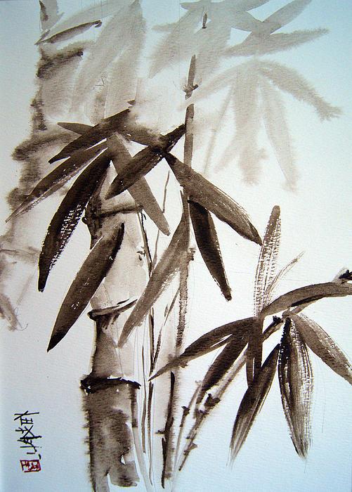 Bamboo Print by Alena Samsonov