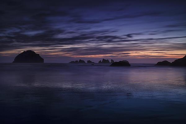 Bandon Beach At Twilight Print by Andrew Soundarajan