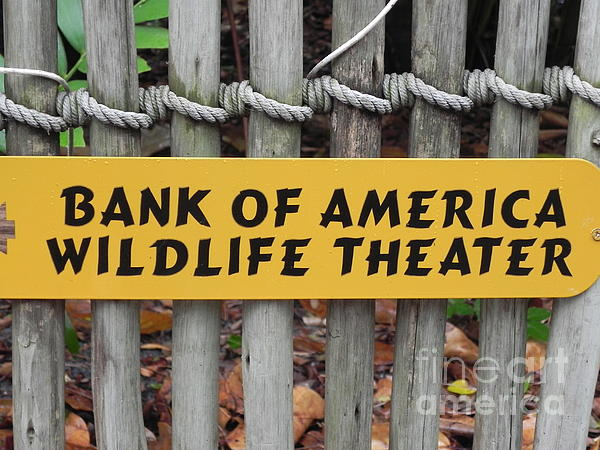 Chrisann Ellis - Bank Of America Wildlife Theater Sign