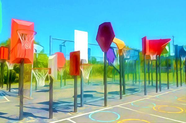 Bankshot Basketball 1 Print by Lanjee Chee