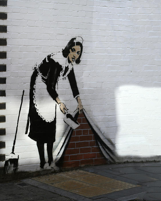Banksy Maid Print by A Rey
