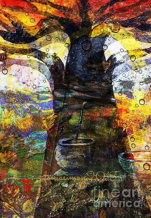 Baobab Tree  Print by Fania Simon