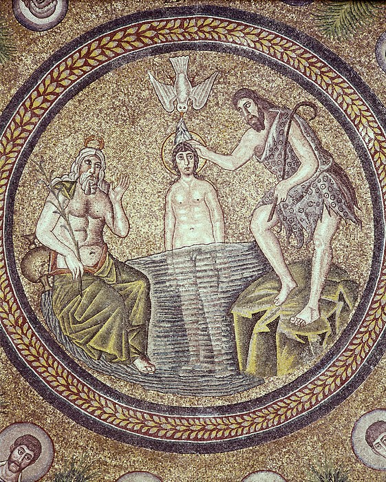 Baptism Of Christ. End 5th C. Italy Print by Everett