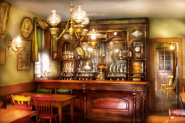 Bar - Bar And Tavern Print by Mike Savad
