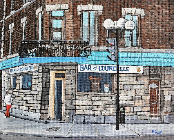 Bar De Courcelle St-henri Print by Reb Frost