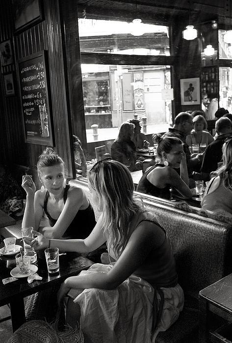 Bar In El Raval Print by Lluis Ripoll