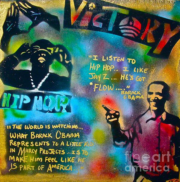 Barack And Jay Z Print by Tony B Conscious