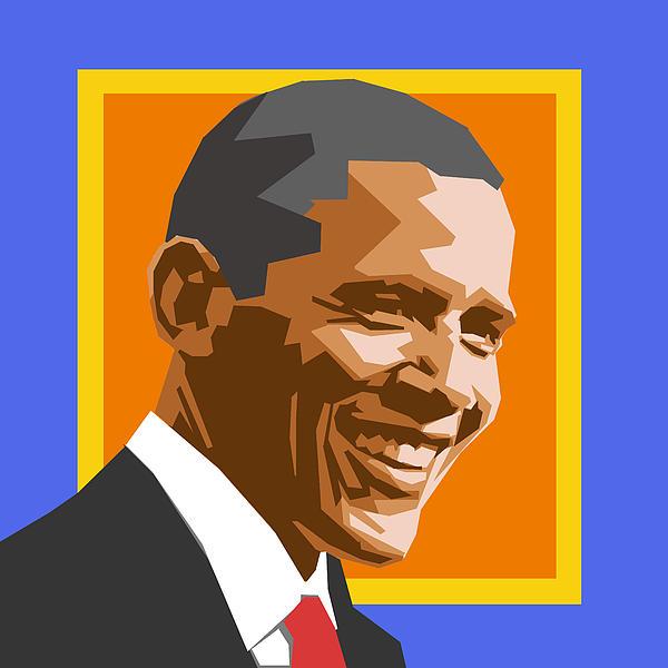 Barack Print by Douglas Simonson