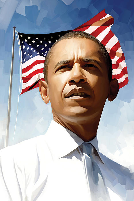 Barack Obama Artwork 1 Print by Sheraz A