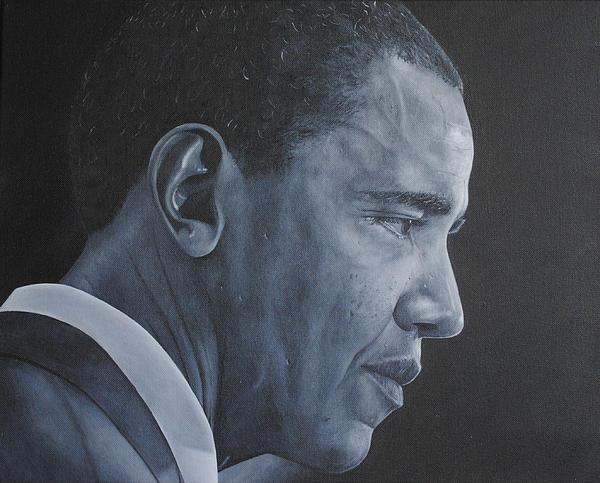 Barack Obama Print by David Dunne