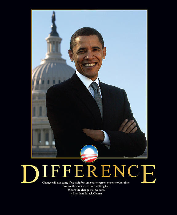 Barack Obama Difference Print by Retro Images Archive